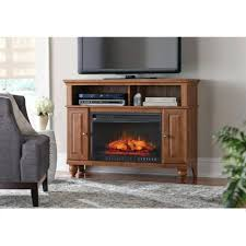 tv stand 70 tv stand infrared electric fireplace in walnut
