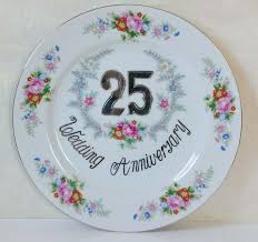 25th wedding anniversary plates 25th wedding anniversary plate by norleans colorful and