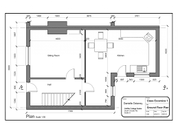 Floor Ideas Simple House Plans With Measurements Drawing South