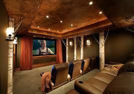 Birch Tree Decor Decorating With Birch Trees Home Theater Traditional With Wood