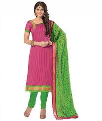 pink colour combination dresses buy surat tex pink blue color designer embroidered unstitched