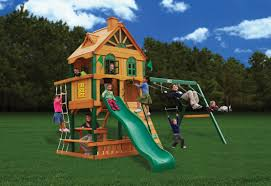 Heartland Swing Set Furniture Gorilla Playsets Mountaineer Clubhouse Treehouse Wooden