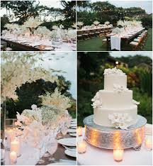 all white rustic wedding with farm tables four seasons resort