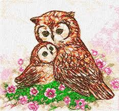 owls family photo stitch free embroidery design free embroidery