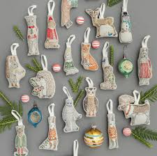 coral and tusk embroidered christmas ornaments