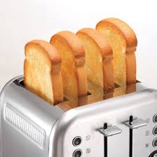 Morphy Richards Accents Red 4 Slice Toaster Brushed Stainless Steel Accents 4 Slice Toaster