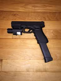 glock 19 laser light combo glock g17 with tactical light and laser combo and 33 round extended