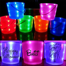 personalized led buckets just 20 perfect for halloween or any time