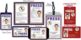press credentials press pass media pass press card press i d
