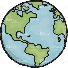 World Map Cartoon by Drawing Of Planet Earth In Cartoon Form Stock Vector Art 451027545