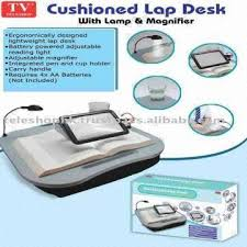 cushion lap desk with lamp and magnifier global sources