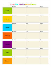 day planner template indesign menu planner template 18 free word psd pdf eps indesign