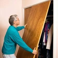 Replace Sliding Closet Doors With Curtains How To Install Sliding Closet Doors Simplir Me