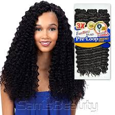 types of crochet hair freetress synthetic hair braids 3x pre loop crochet braid deep