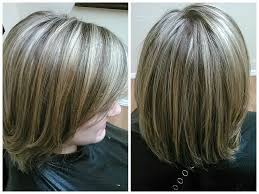 coloring gray hair with highlights hair highlights for 72 best all grey blending images on pinterest grey hair white
