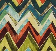 Jb Upholstery Modern Orange Teal Chevron Upholstery Fabric Purple Green