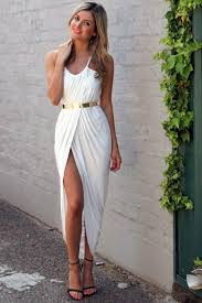 white ruched wrap irregular maxi dress casual dresses women