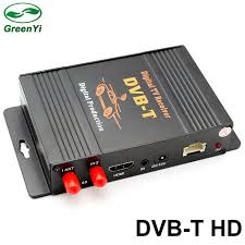 Tuner Tv greenyi car dvb t tv box tv receiver dual tuner high speed mpeg4 car