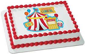 carnival edible cake topper decoration grocery