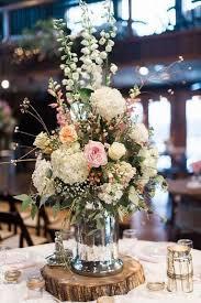Mason Jars Wedding Centerpieces by Rustic Wildflowers In Mason Jar Wedding Centerpiece Wedding