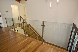 Banister Glass Alin Wa Modern Stainless Steel Cable And Glass Railing
