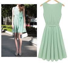 mint dress knee length long droopy bow