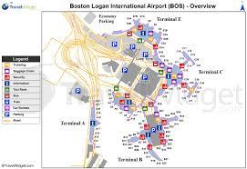 Map Orlando Airport by Logan International Airport Map Map Of Logan International