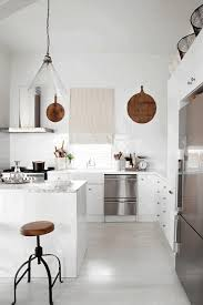 Kitchen Upper Cabinets Upper Cabinet Sleek Black Wooden Counter Simple Plain White Wooden