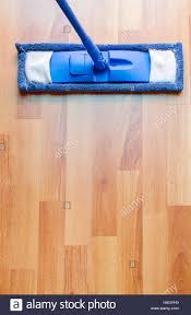 Laminated Floor Modern Style Mop On Laminated Floor With Copyspace Stock Photo