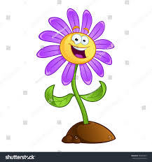 sympathetic cartoon flower on white background stock vector