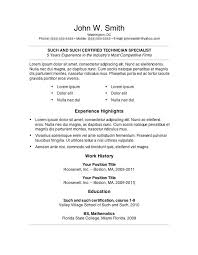 Other Name For Resume Resume Templates For Wordpad Resume Template Wordpad Simple