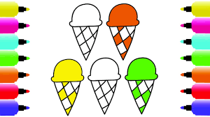 how to draw ice cream coloring pages vibrant colors ice cream