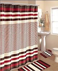 Shower Curtain With Matching Window Curtain Black And White Shower Curtain Set Gorgeous Home 15pc Black