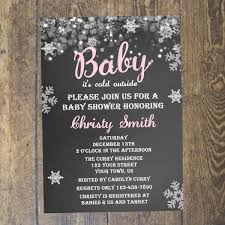 winter baby shower invitations home design