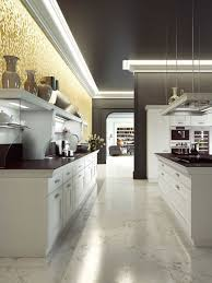 neutral soft brown kitchen theme color combined with awesome white