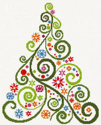 abstract christmas tree cross stitch pattern tree