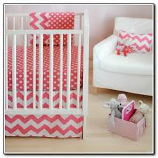 Pink Chevron Crib Bedding Pink And Gray Crib Bedding Beds Home Design Ideas