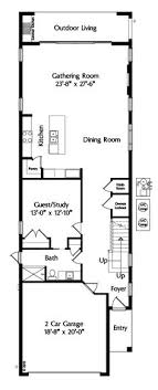 narrow floor plans narrow two story house plans search house