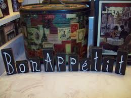 bon appetit letter blocksfrench kitchen signsfrench