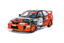 mitsubishi evo rally car tarmac works 1 18 mitsubishi lancer evo v wrc 1999 new zealand