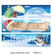 clipart merry christmas banners 1 royalty free vector