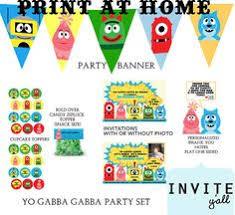 yo gabba gabba birthday party pennant balloon