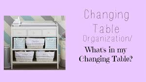 Changing Table Organization Changing Table Organization What S In My Changing Table
