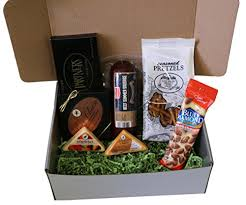 wisconsin cheese gifts meat and cheese gift basket box with summer sausage and wisconsin