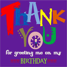 terrific thanks everyone for the birthday wishes pattern best
