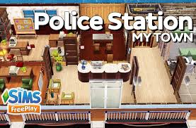 the sims freeplay police station original design youtube