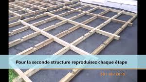 Prix Terrasse Suspendue Beton by Montage D U0027une Structure Pour Terrasse En Bois Ou Composite Youtube