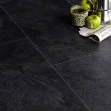 Kitchen Laminate Flooring Tile Effect Colours Black Slate Effect Luxury Vinyl Click Flooring 1 49 M
