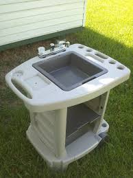 Portable Outdoor Sink Garden Camp Kitchen Camping RV New Outdoor - Camping kitchen with sink