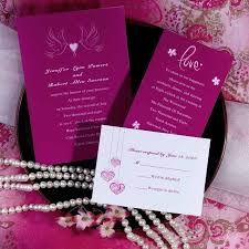 discount wedding invitations hot pink birds and heart wedding invitations ewi176